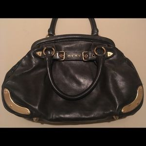 MIU MIU Black Leather Satchel Bag!